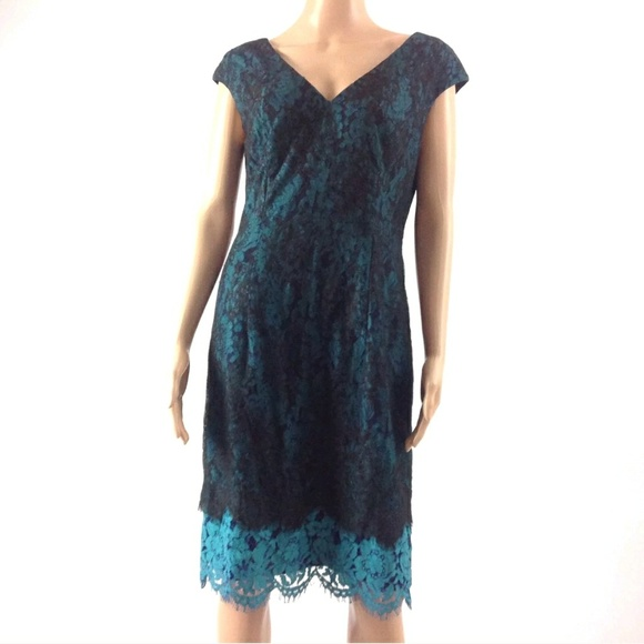1702e86c6558 Alex Evenings Dresses | Womens Sheath Dress Lace 8 | Poshmark